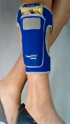 holder for epipens as soft and comfortable as sports bands LegBuddy by OmaxCare